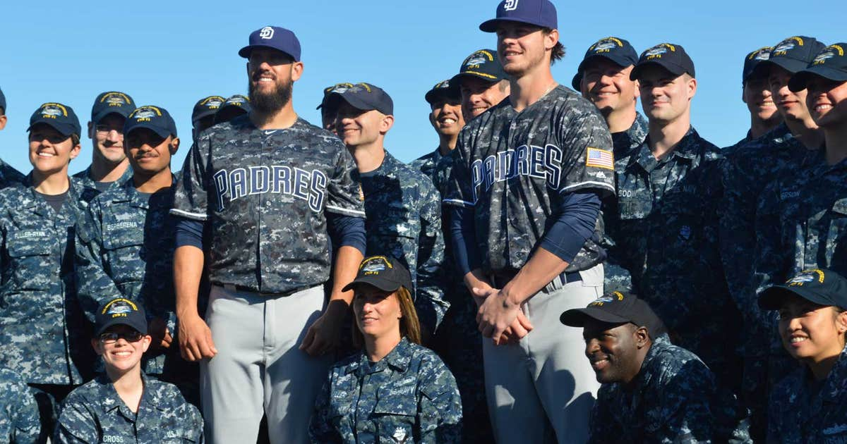 9bf62c5b06e Padres unveil new U.S. Navy digital camouflage jersey