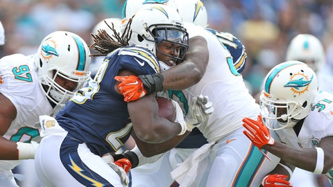 Chargers Defeat the Dolphins 30-14