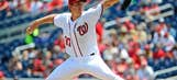 Strasburg's undefeated streak ends in loss to Dodgers