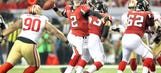 Falcons focused on strong finish, handling 49ers' pass rush