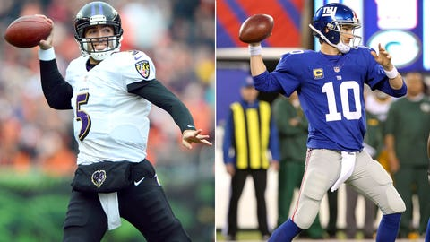 QBs Joe Flacco (Ravens)/Eli Manning (Giants)