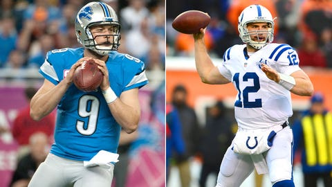 QBs Matthew Stafford, Lions/Andrew Luck, Colts