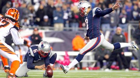 Kicker: Stephen Gostkowski, Patriots