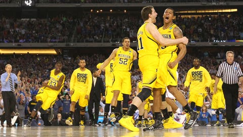 8 -- 2013: (4) Michigan 87, (1) Kansas 85 (OT)