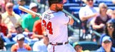 Three Cuts: Gattis, Santana split hero duties in Braves' win