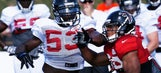 Falcons take physical play to new levels at camp