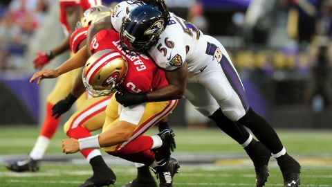Stock DOWN: Blaine Gabbert, San Francisco 49ers -- Quarterback