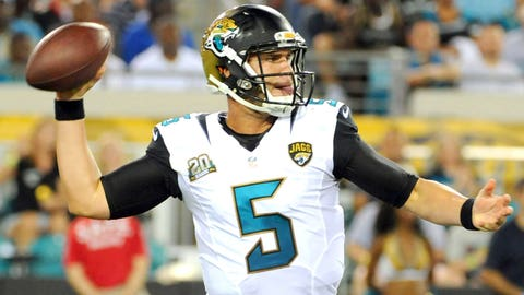 Does It Matter If Blake Bortles Plays Well In August?