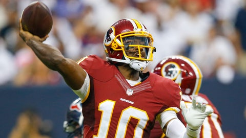 Robert Griffin III, Quarterback -- Washington Redskins