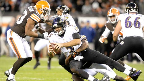Browns (+10) over RAVENS (Over/under: 45)