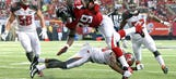 Four Downs: Falcons explode for 56 in record-setting trouncing of Bucs