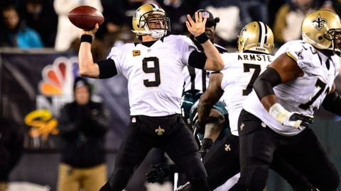#1 -- QB Drew Brees, New Orleans Saints