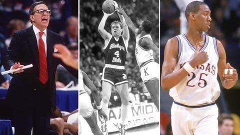 5 -- 1986: (1) Kansas 96, (5) Michigan State 86 (OT)