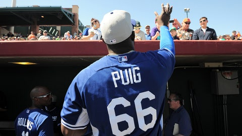 Yasiel Puig, OF, Dodgers