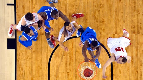 11 -- 2014: Kentucky 74, Wisconsin 73