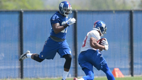 New York Giants -- Collins improving in coverage?