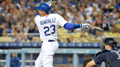 April 8 - Adrian Gonzalez blasts three homers in one game