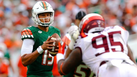 UP: Miami's Brad Kaaya