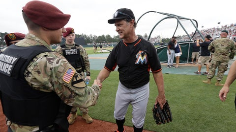 Mattingly Meets The Troops
