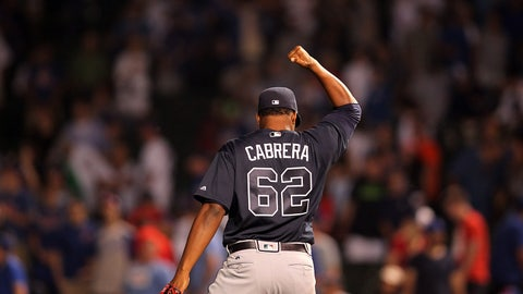What will Mauricio Cabrera's role be in the bullpen?