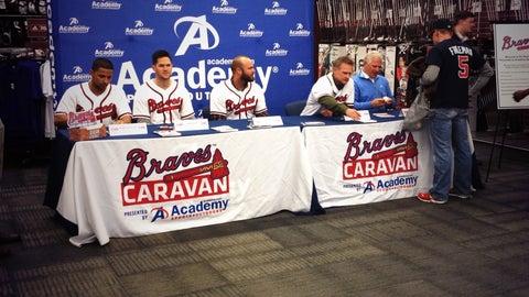 Braves Caravan in Newnan, Ga.