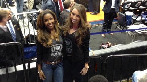Canicka and Morgan at Philips Arena