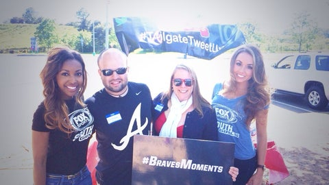 FOX Sports South Girls at 2014 Braves Fans Tailgate TweetUp