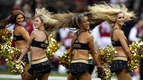 Saintsations cheerleaders
