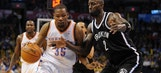 Durant scores 24 points as Thunder fall to Nets