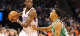 Jackson steps into Westbrook's shoes in Thunder win over Celtics