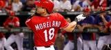 Rangers Moreland getting start in left field against Astros