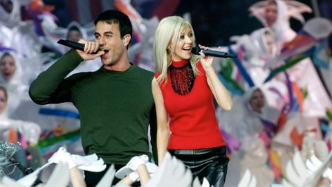 Phil Collins, Christina Aguilera, Enrique Iglesias and Toni Braxton