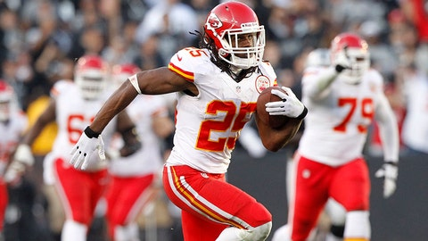 Jamaal Charles, RB, Chiefs (knee): Out