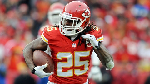 Jamaal Charles, RB, Chiefs (knee): Active