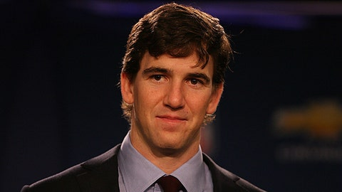 How many times will Eli Manning be shown on TV during the game?