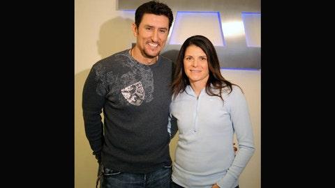 Mia Hamm and Nomar Garciaparra (married)