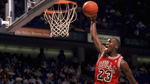 Michael Jordan, SG, 1984-93, 1994-98, 2001-03