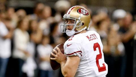 Colt McCoy, QB, 49ers