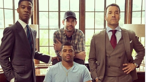 Russell Wilson and Ari Gold