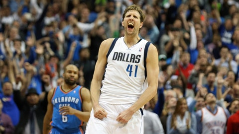 Dirk Nowitzki, No. 41, power forward.