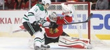 Garbutt scores twice as Stars fall to Blackhawks
