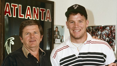 Falcons coach Jerry Glanville once said it would take a plane crash for him to play Favre