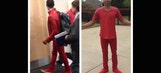 Russell Westbrook, Mike Conley wear matching outfits to Game 1