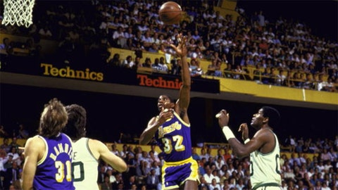 Magic Johnson, 1987 Lakers vs. Celtics