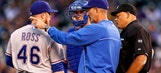 Rangers pitchers knocked around in loss to Rockies