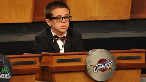 Cavs owner sends his son for good luck - 2011