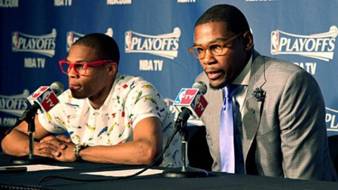 """The """"I'll forgive your clothing choices"""" Bromance: Kevin Durant & Russell Westbrook"""