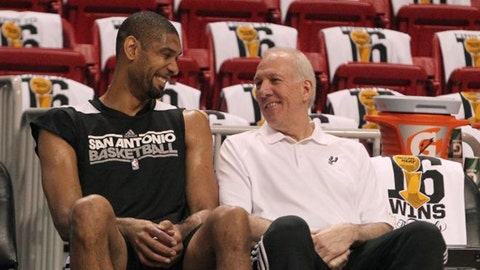 """The """"Old as Dirt"""" Bromance: Tim Duncan & Gregg Popovich"""