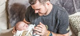 At home with new dad: Saints punter Thomas Morstead