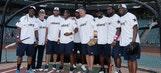 Cowboys hit home runs for charity at Globe Life Park